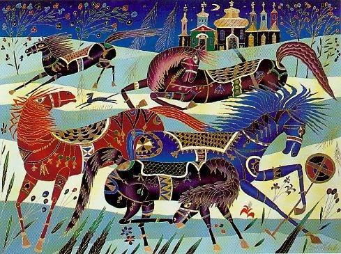 Horses in Winter (489x365, 69Kb)