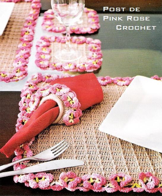 Jogo Americano c Ponto Flor _Croche - PRoseCrochet (546x661, 100Kb)