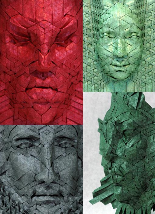 Origami Parnassus mask Riccardo Foschi  YouTube