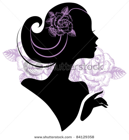 stock-vector-beautiful-woman-silhouette-with-a-flowers-84129358 (433x470, 51Kb)