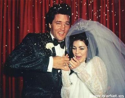 Свадьба Элвиса и Присциллы 1 мая 1967 года (440x345, 29Kb)