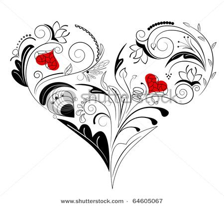 4708174_stockvectorvectorpictureofblackheartwithfloralornament64605067 (450x414, 52Kb)