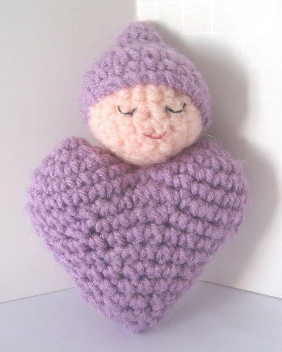 Вязание крючком игрушки сердце - Master class