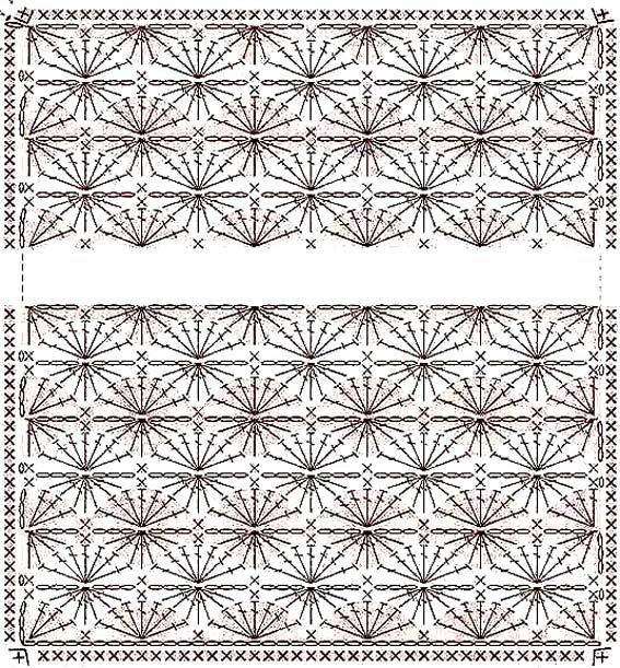 Схема вязания одеяла. Летний