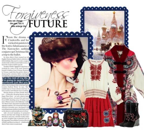 Элементы одежды в русском стиле.