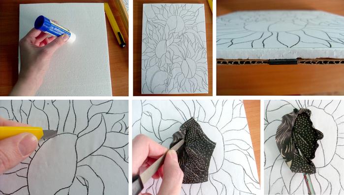 Как сделать картину своими руками из ткани