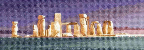 Набор для вышивания Стоунхендж, Heritage 635PRSH купить в санкт петербурге Шале, Evenweave 28, Aida 14, Счетный крест.