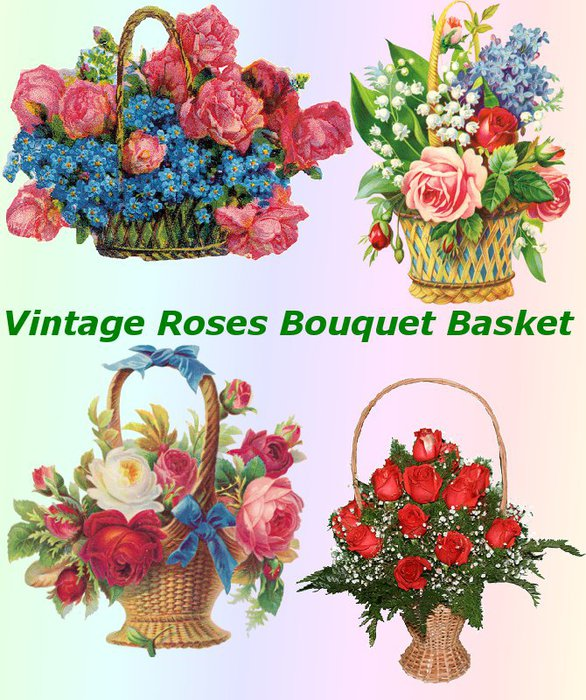 3291761_01Vintage_Roses_Bouquet_Basket (586x700, 118Kb)