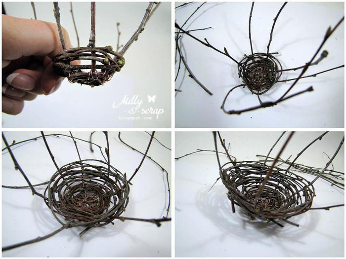 Птичье гнездо своими руками