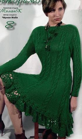 вязание платья спицами - Самое
