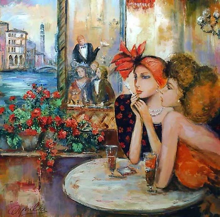 Ловилла Шанталь Завтрак в Венеции (700x691, 153Kb)
