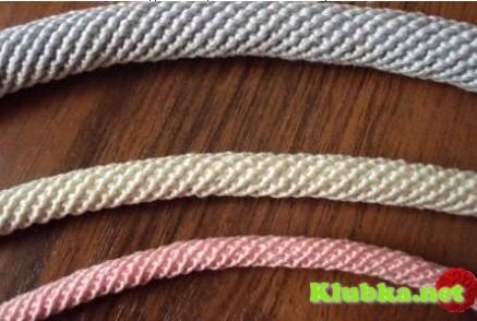 Вязание шнура-ручки для сумок