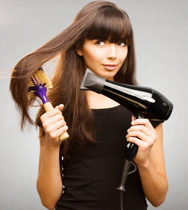 Можно ли сушить волосы феном 4