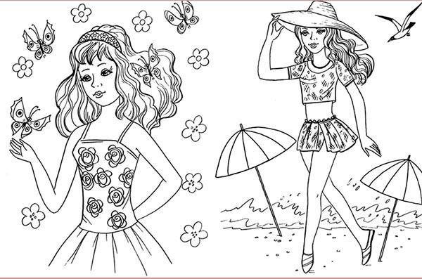Раскраски для девочек 10-12 лет сложные