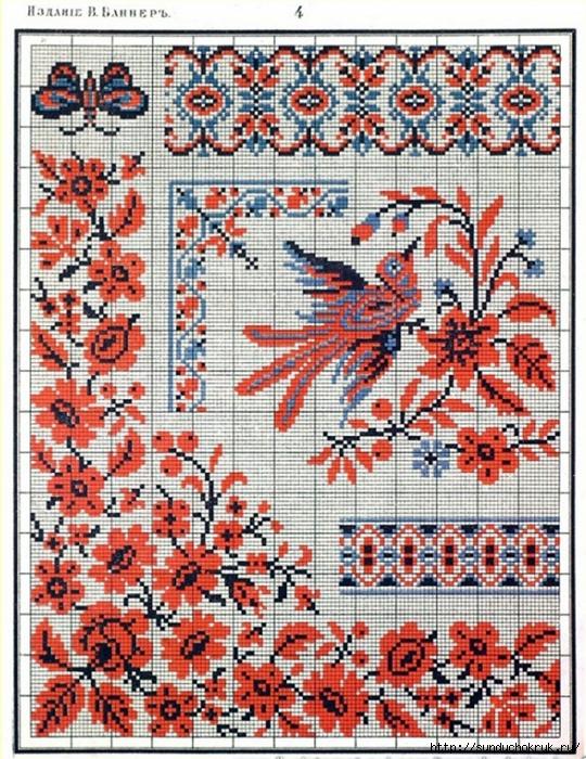 Славянские орнаменты в вышивке схемы