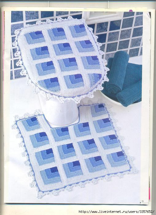 Вязание спицами коврик для ванны