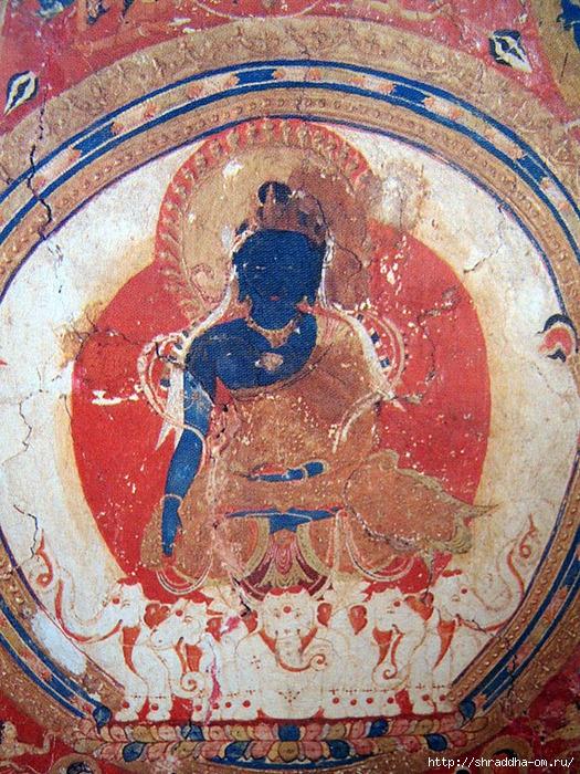 Buddha Akshobhaya, роспись акрилом, автор Shraddha, 2 (525x700, 453Kb)