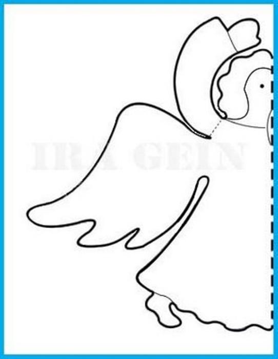 Ангелочки из бумаги своими руками трафарет