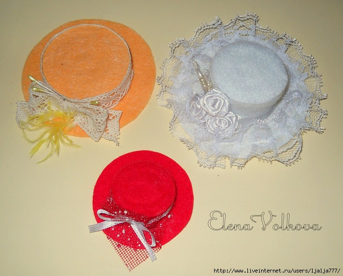 Как сделать шляпку для куклы своими 620