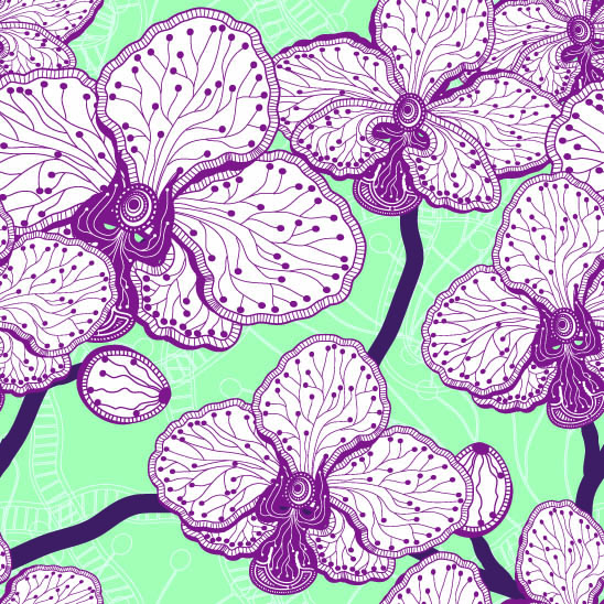 Картинки стилизованных цветов 5