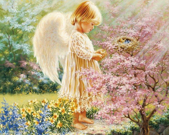 Цветы и ангелы картинки 6