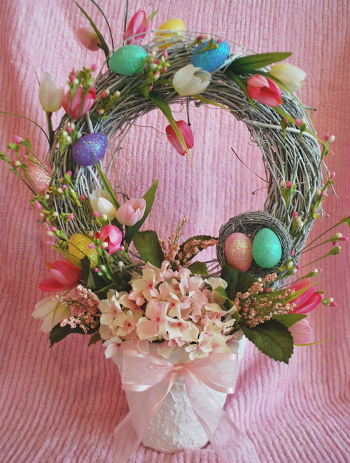 Easter Wreath Topiary- Finished (500x661, 635Kb)
