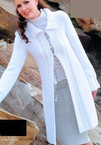 Вязание спицами для женщин кардиганы схемы