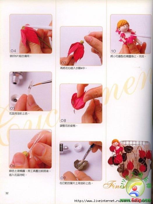 Цветы из полимерной глины мастер класс для новичков