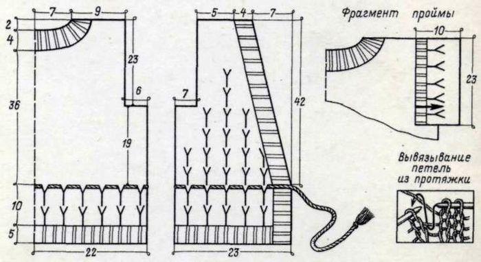 Синтетическая пряжа в 1 нить (200 г). Спицы 2,5. Для...  Вязанье - резинка 2X2 и рельефное с ажуром на изнаночной...