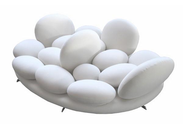 Unique leather sofa