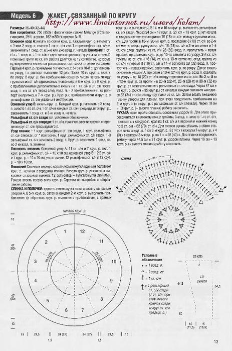 Вяжем по кругу крючком схемы и описание
