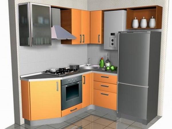 Проект интерьера малогабаритной кухни 3 (600x449, 49Kb)