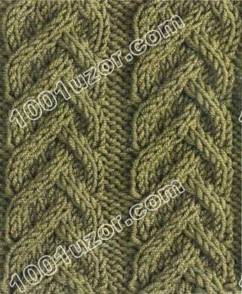 Вязание спицами узоры с жгутами - Master class.