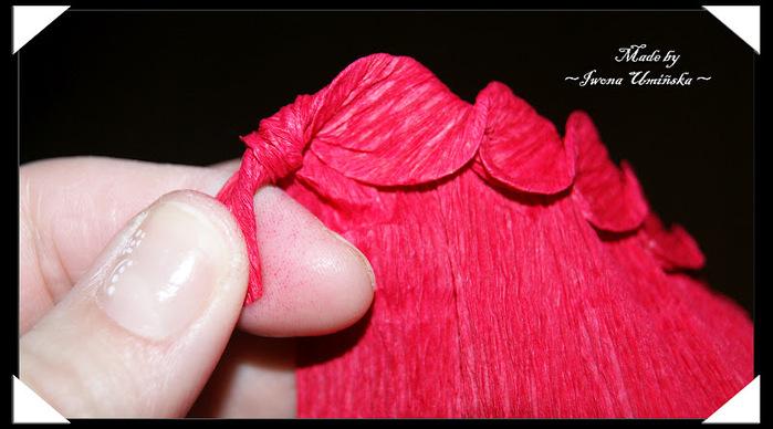Розочки из гофрированной бумаги своими руками пошагово