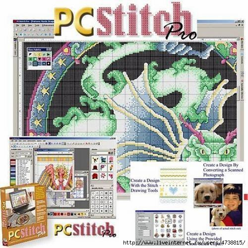 PCStitch Pro - программа для создание эскизов из ваших картинок и фотографий для дальнейшего вышивания крестиком...