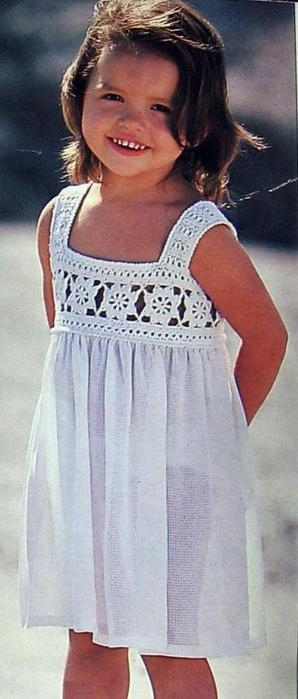 Детский сарафан крючком 3