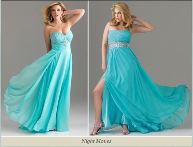 Женщины в красивых платьях