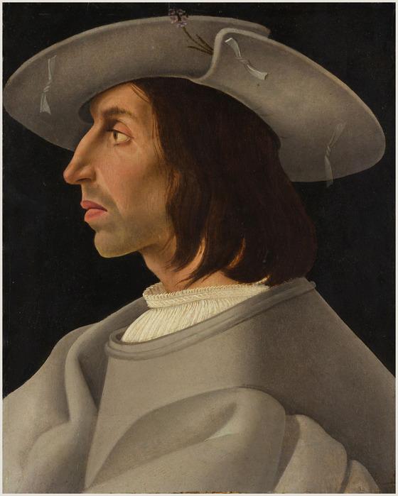 German -Augsburg- Painter, about 1525=Портрет мужчины в проф (560x700, 106Kb)