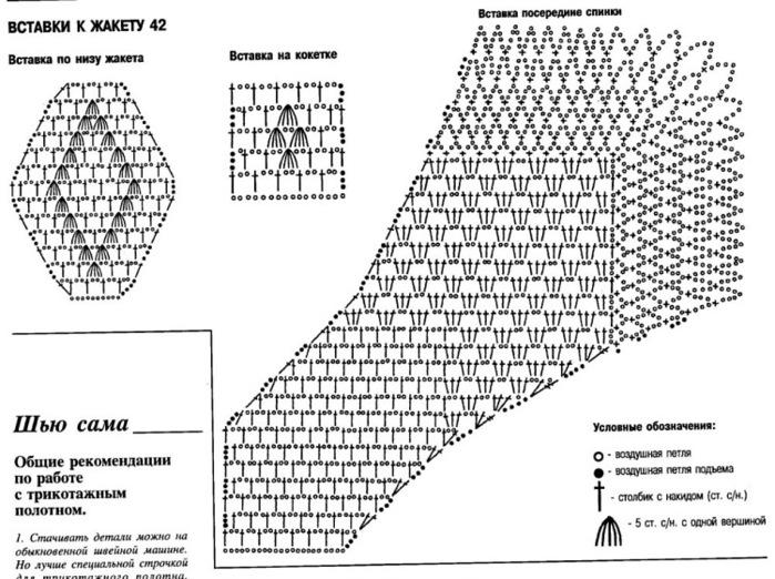 Ткань и вязание крючком схемы и описание 187