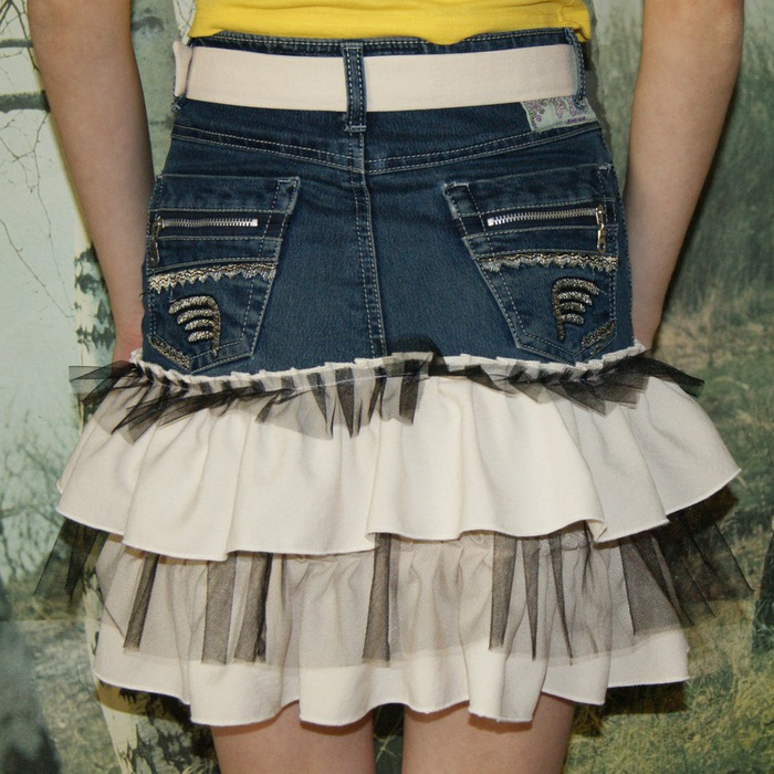 Сшить юбку из старой джинсовой юбки 496