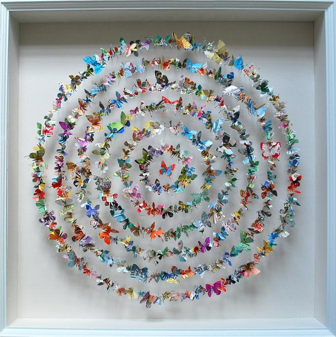Поделки на стену бабочки