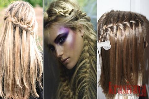 косички на длинные волосы схемы.