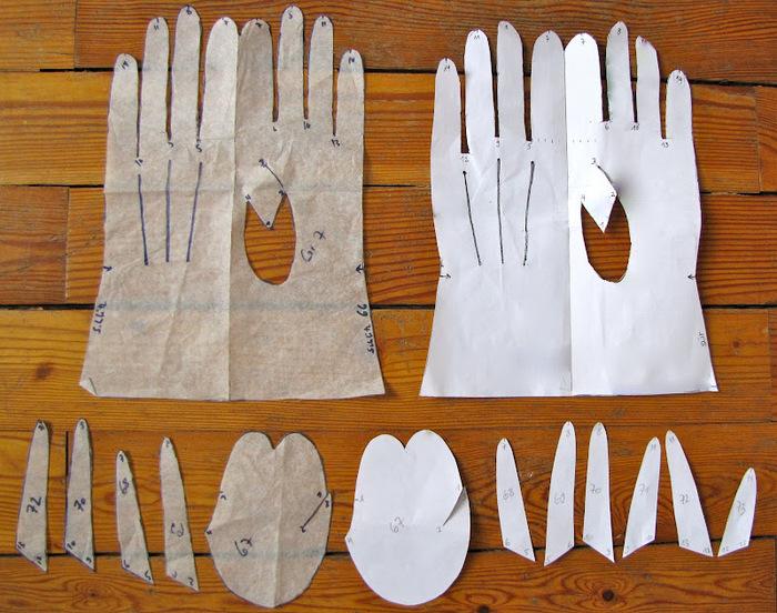 Флисовые перчатки своими руками