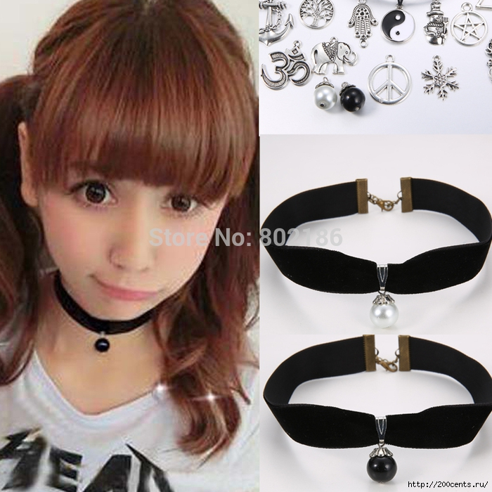 2014 Winter SALE 80's 90's inspired Plain Black Velvet Ribbon Choker Necklace Gothic Handmade With Charm Gothic Emo For Women/1434438580_2014WinterSALE80s90sinspiredPlainBlackVelvetRibbonChokerNecklaceGothicHandmade (700x700, 289Kb)