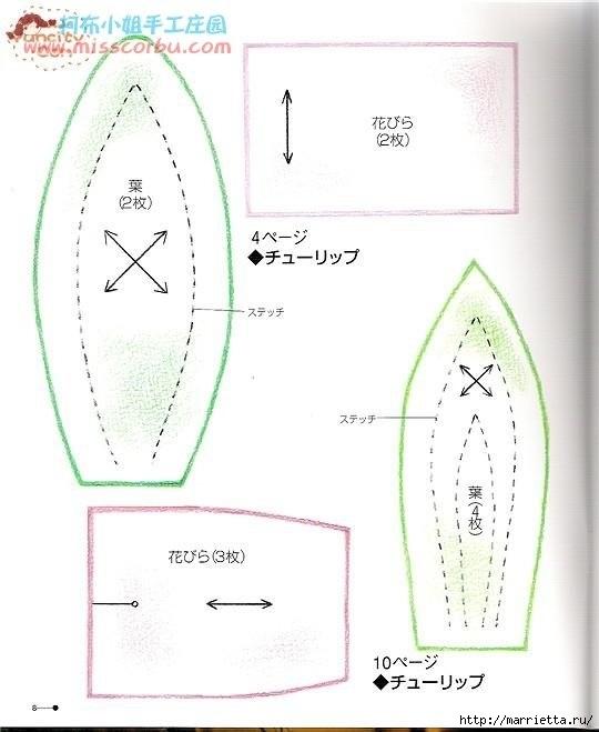 ТЮЛЬПАНЫ из ткани (8) (540x659, 113Kb)