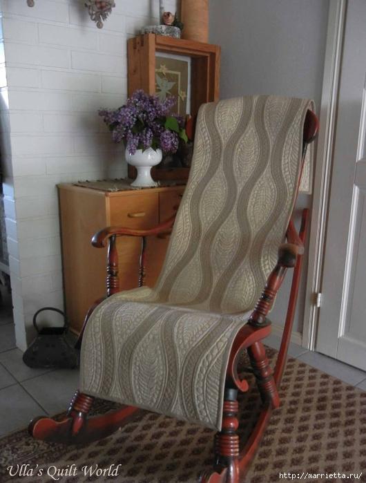 Стеганая накидка для кресла в технике пэчворк (2) (530x700, 251Kb)