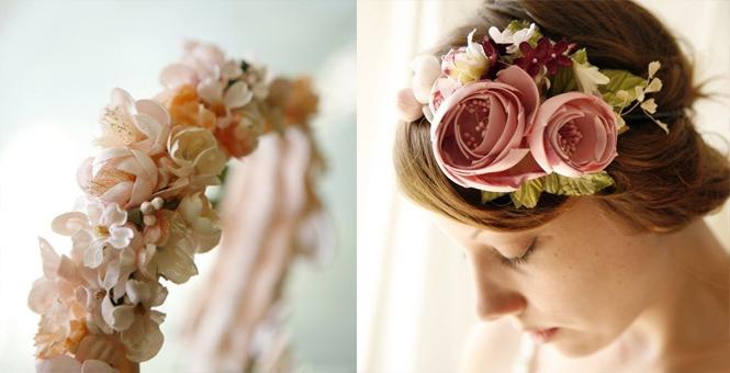На голову цветок своими руками фото