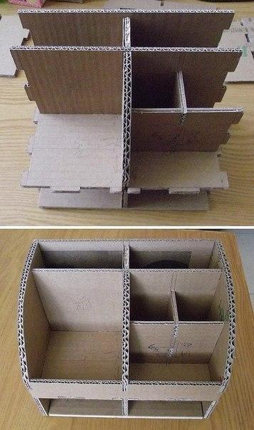 Полочка для косметики  из картона