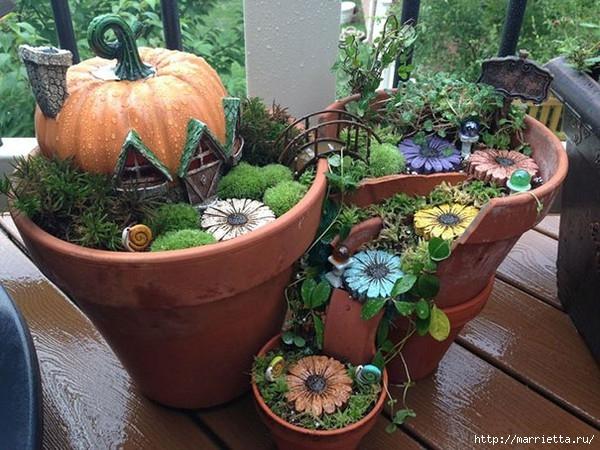 Миниатюрный сад из цветочного горшка. Идеи (9) (600x450, 223Kb)