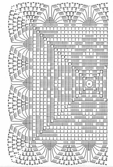 Схема вязанной скатерти